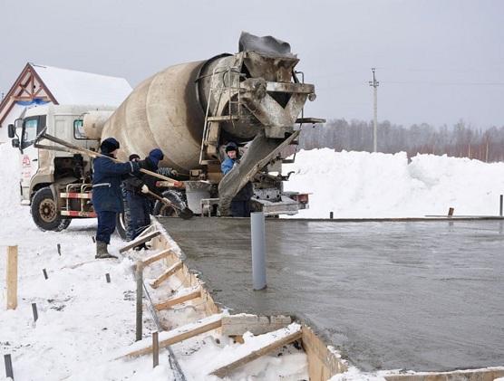 Зимний бетон – правила ухода