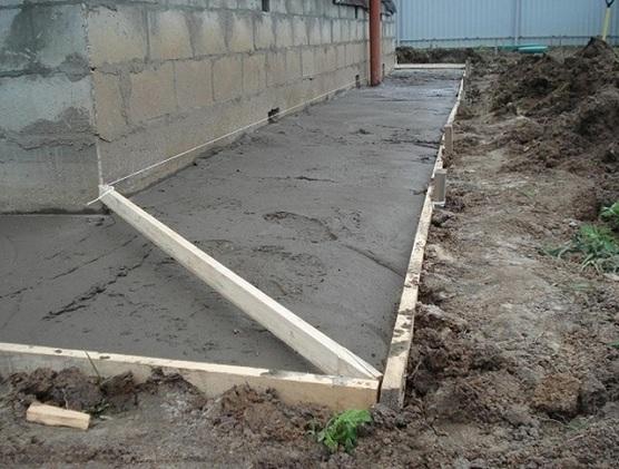 Строительство бетонной отмостки вокруг дома