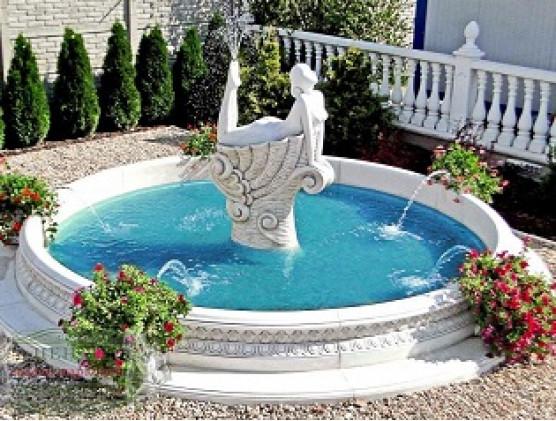 Как сделать фонтан из бетона на даче?