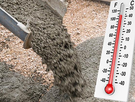 При какой температуре лучше заливать бетон?