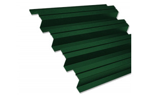 Профнастил С-21 зеленый 0,35 мм (Ral 6005)